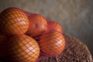 arance in rete di cellulosa